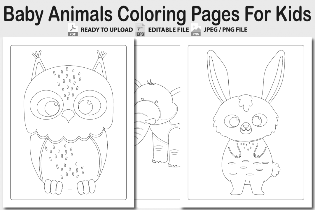 collection of animal coloring pages collection