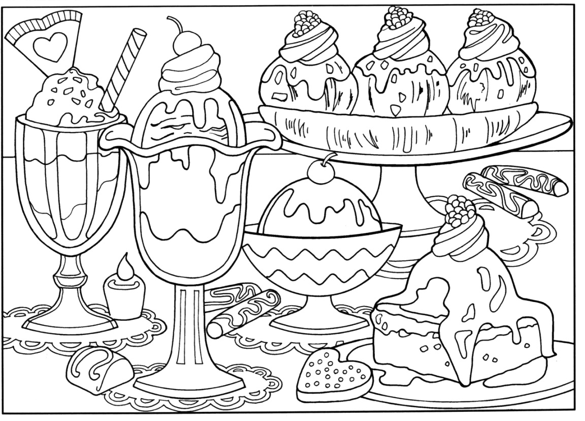 excelent food coloring pages Printable Coloring Page