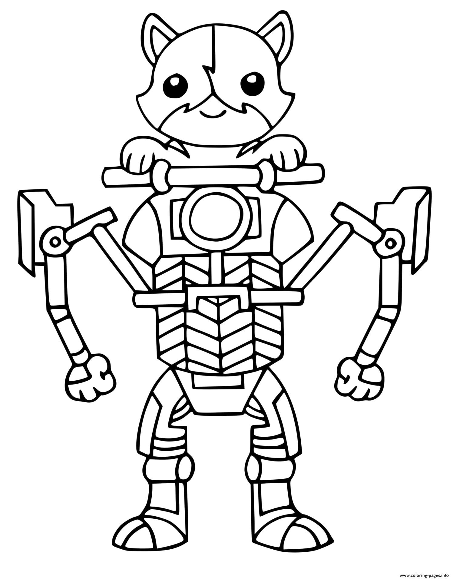 Make your fortnite coloring pages Download and Print for Free