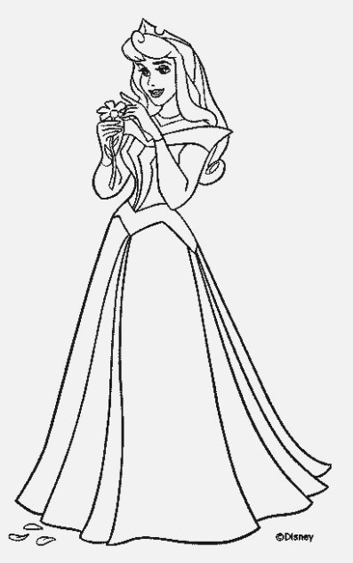 printable easy princess coloring pages gallery