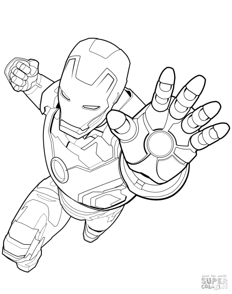 cool iron man coloring pages Download and Print for Free