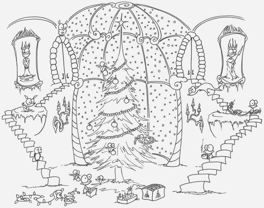 The best christmas coloring pages free pdf