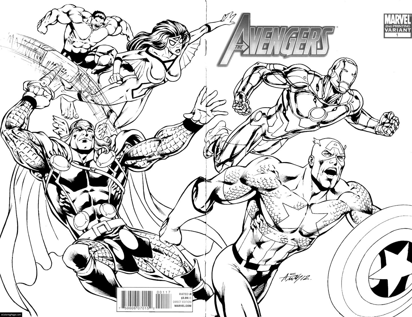 printable marvel coloring pages coloring book