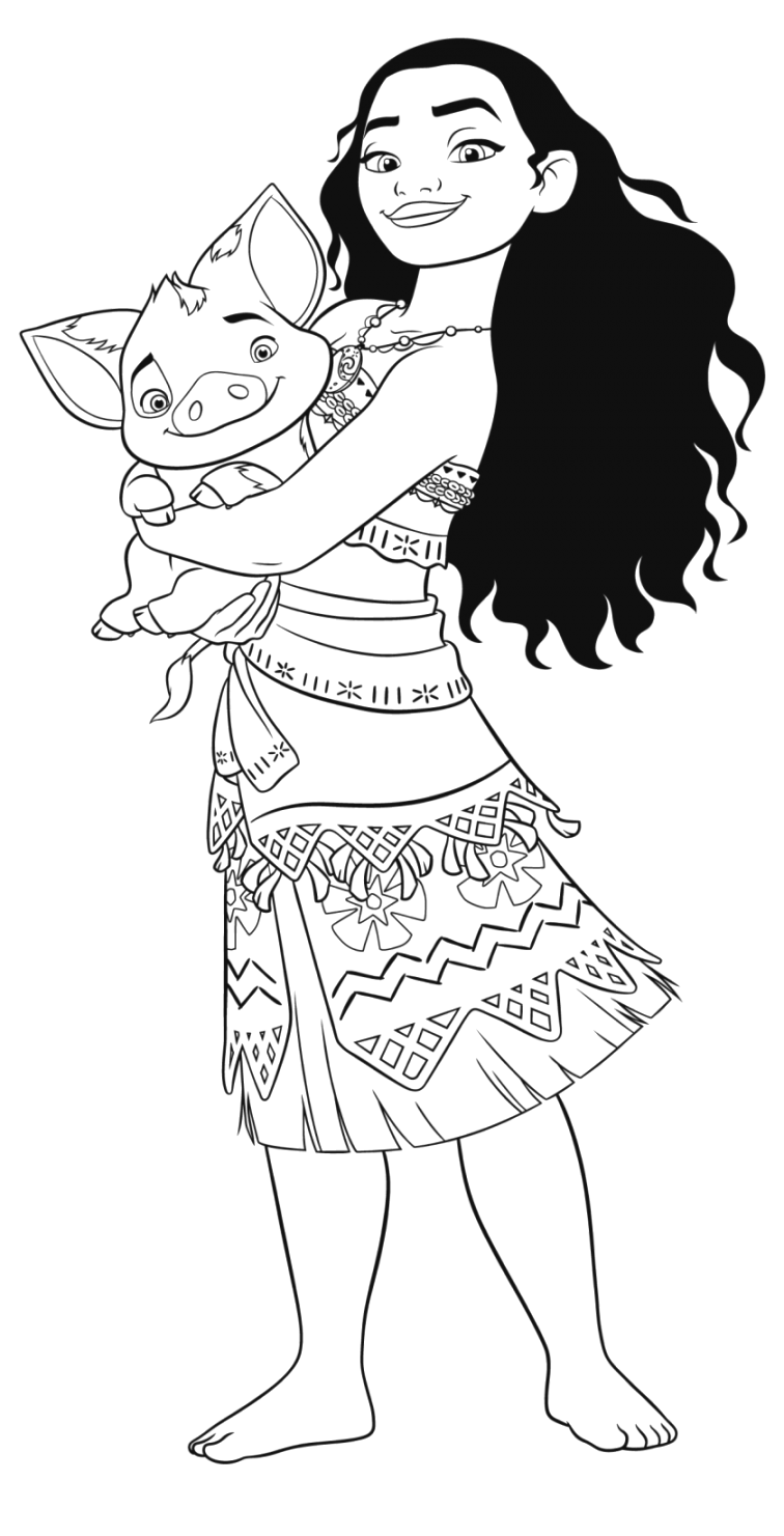 Outstanding moana coloring pages to print