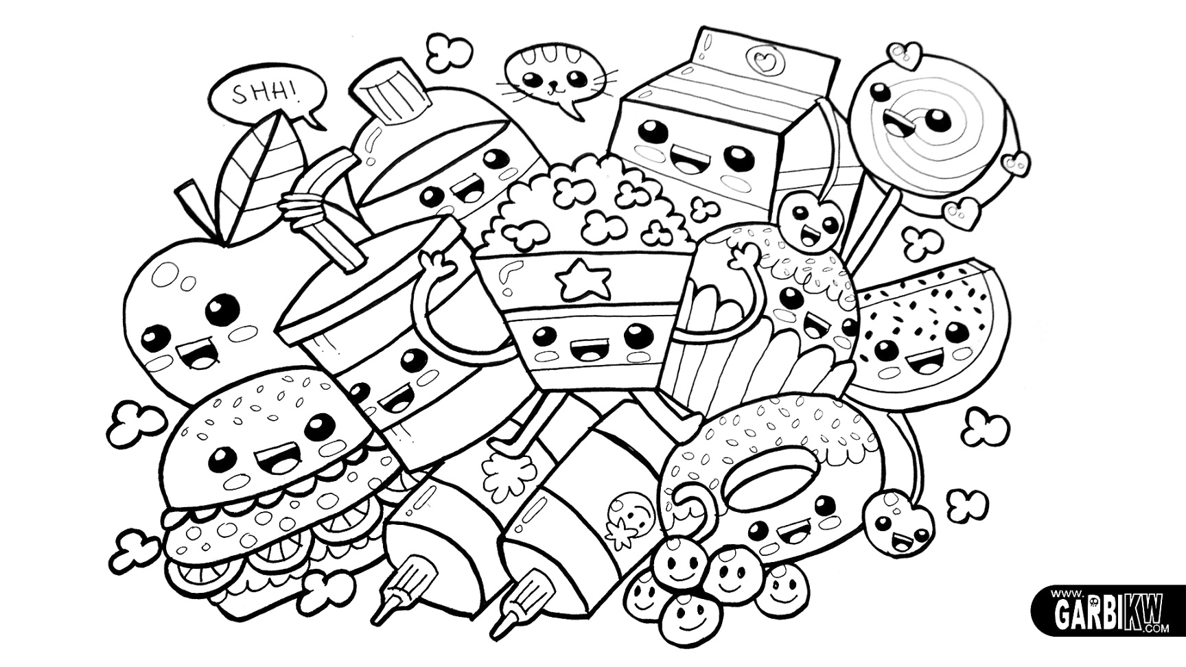 pinterest food coloring pages coloring book