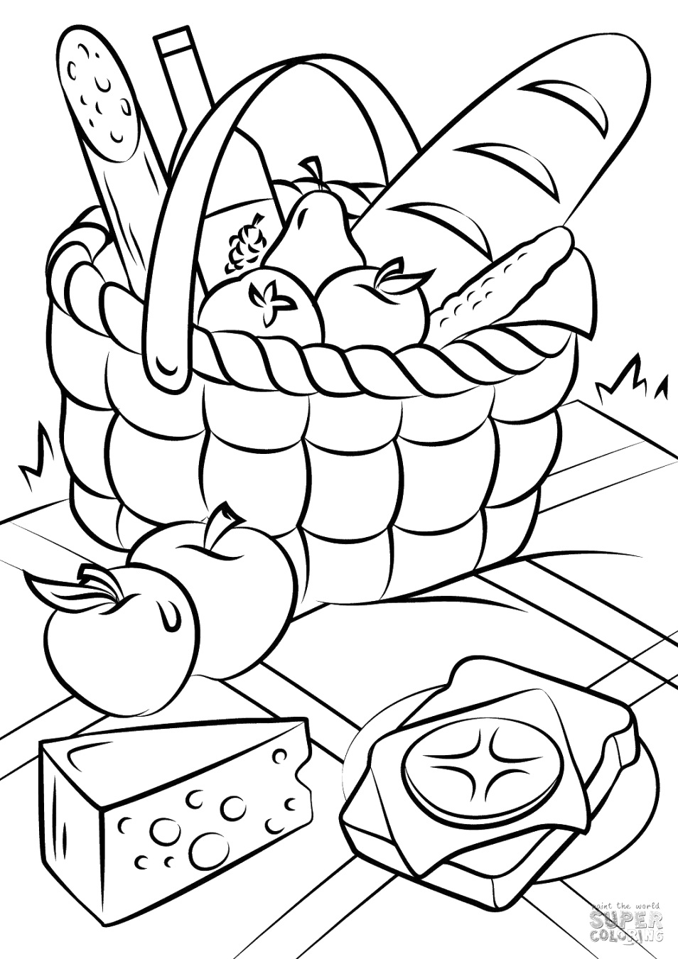 top food coloring pages coloring book