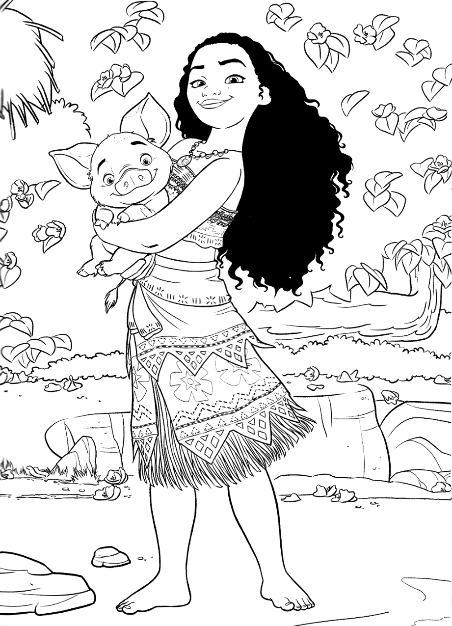 The best moana coloring pages to color up