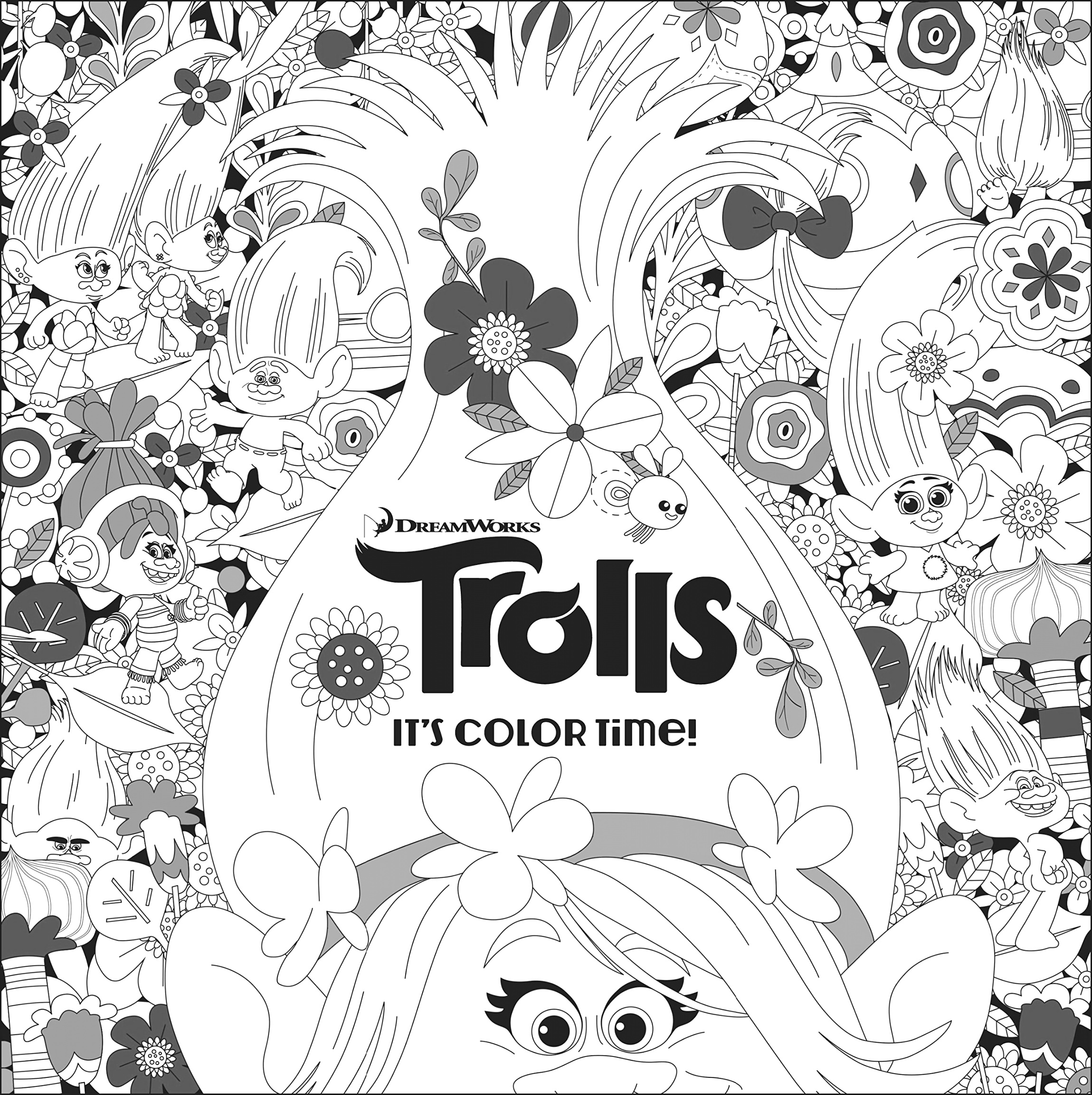 new trolls coloring pages collection