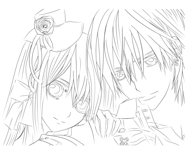beautiful anime coloring pages for kids