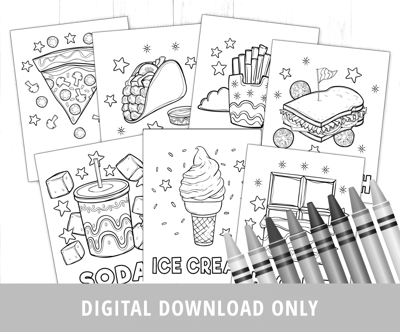 fun with food coloring pages easy to print