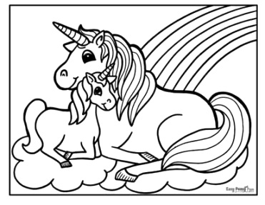 Outstanding unicorn coloring pages collection
