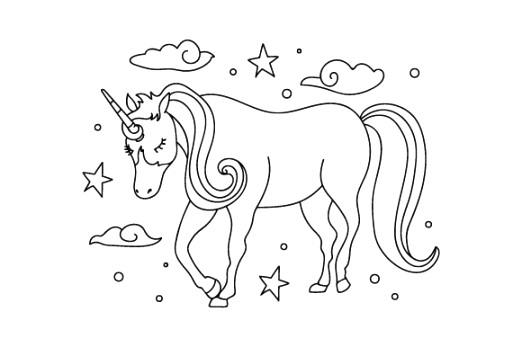 great unicorn coloring pages Printable Coloring Page
