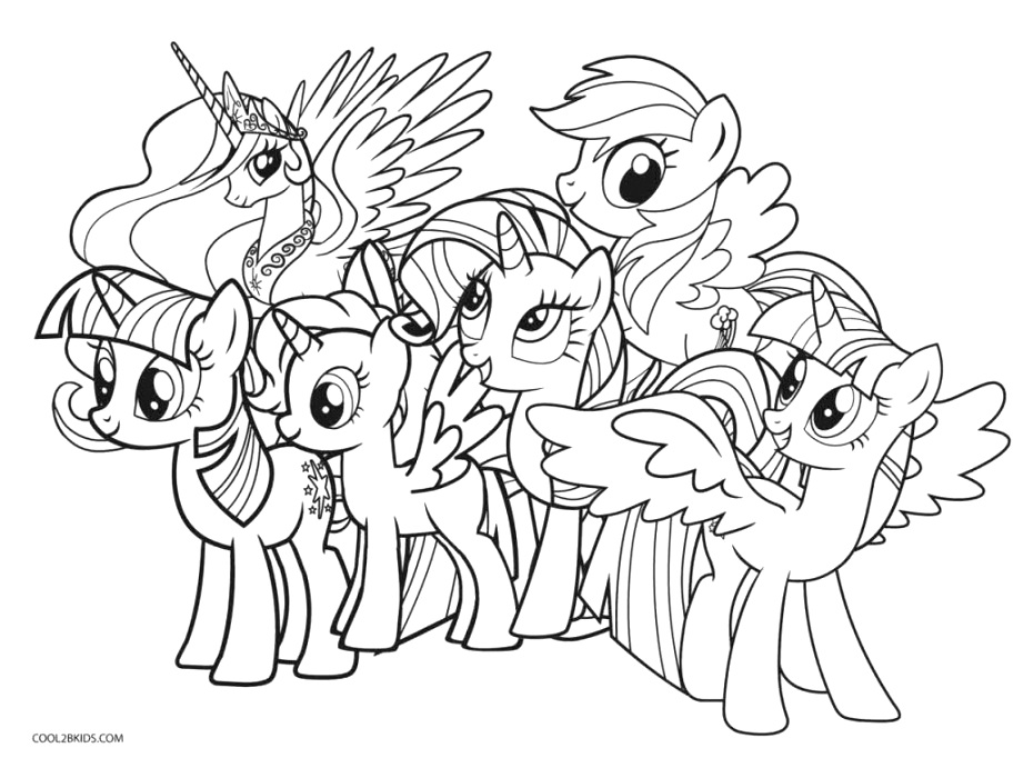 The best my little pony coloring pages colour and print