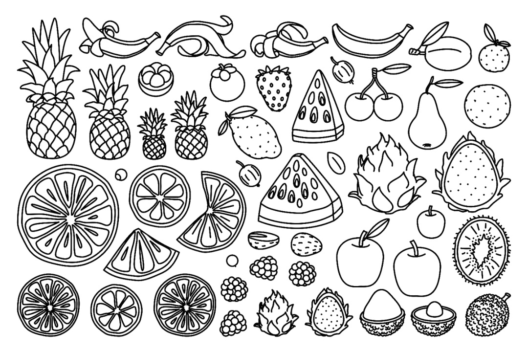 best food coloring pages to print and color