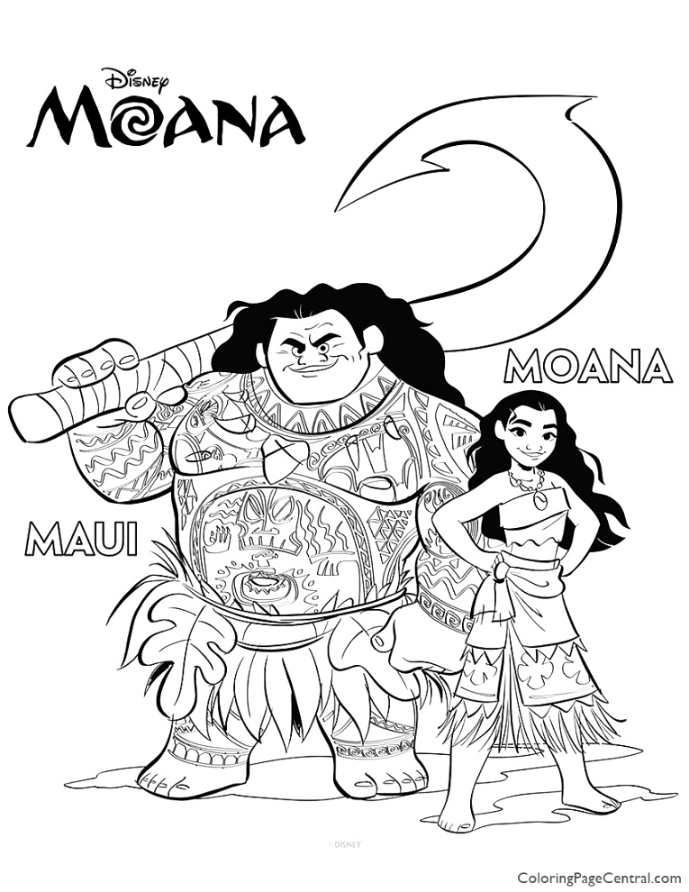 new moana coloring pages to color your life
