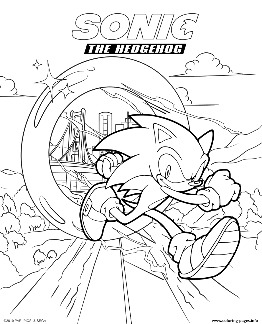 incredible sonic the hedgehog coloring pages Download and Print for Free