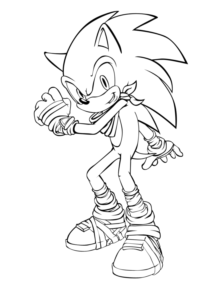 best sonic the hedgehog coloring pages ideas