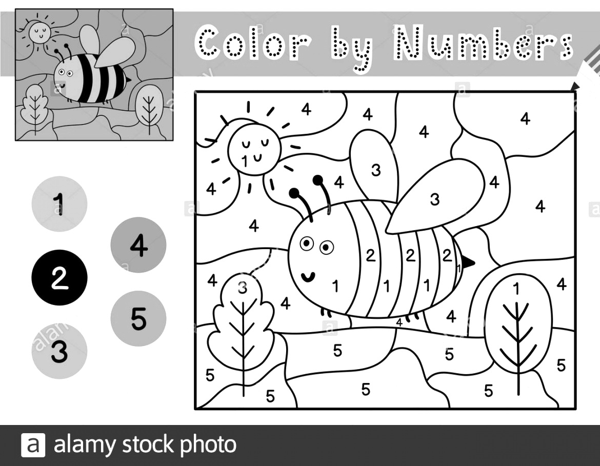 cute color by number printable Coloring Pictures For Toddlers