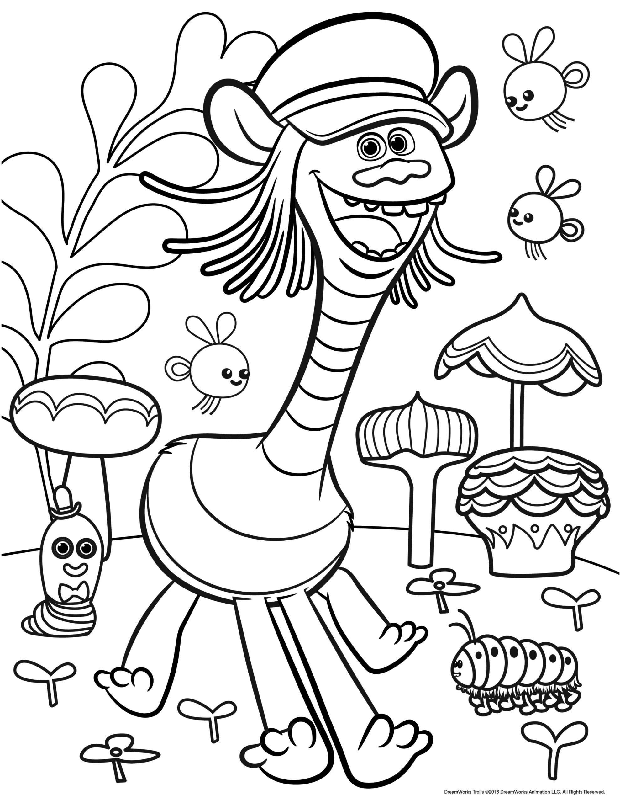 Free online trolls coloring pages to color your life