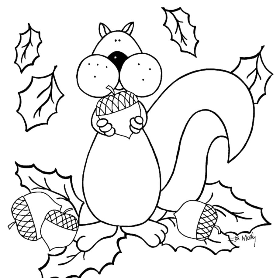 Remarkable autumn coloring pages collection