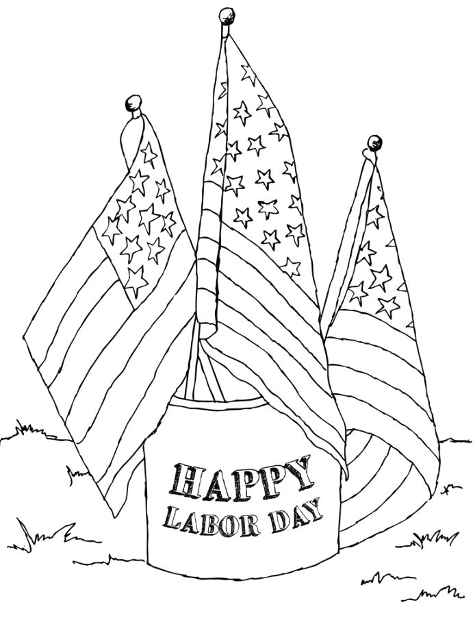 Outstanding labor day coloring pages gallery