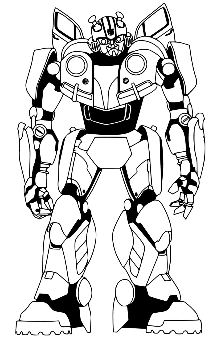cool bumblebee coloring pages download for free