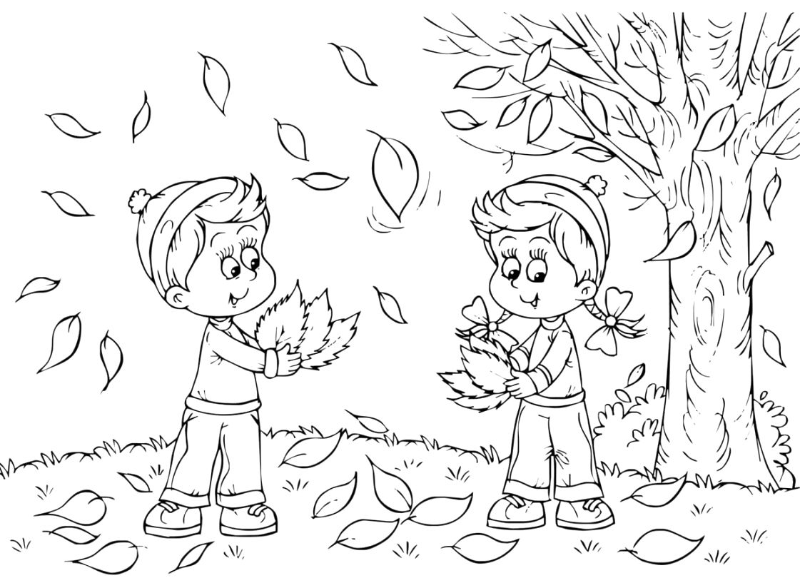 top autumn coloring pages to color free