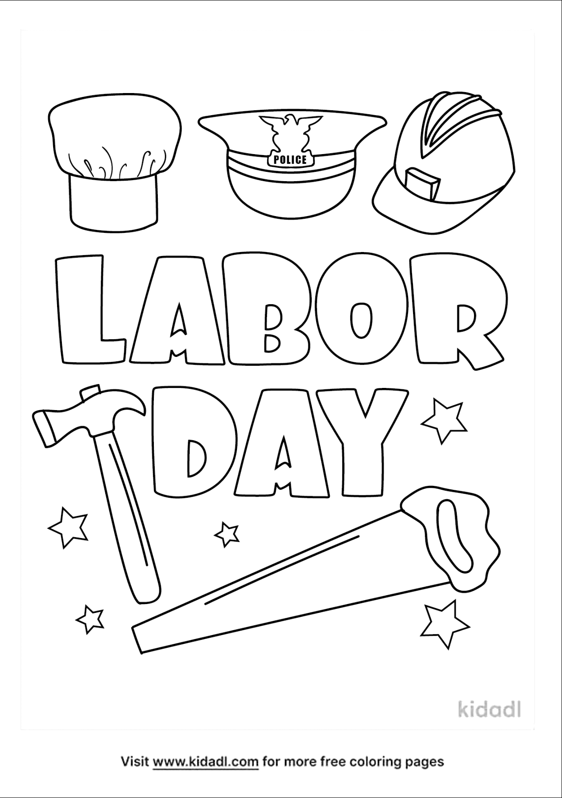 Simply download labor day coloring pages for children and adults