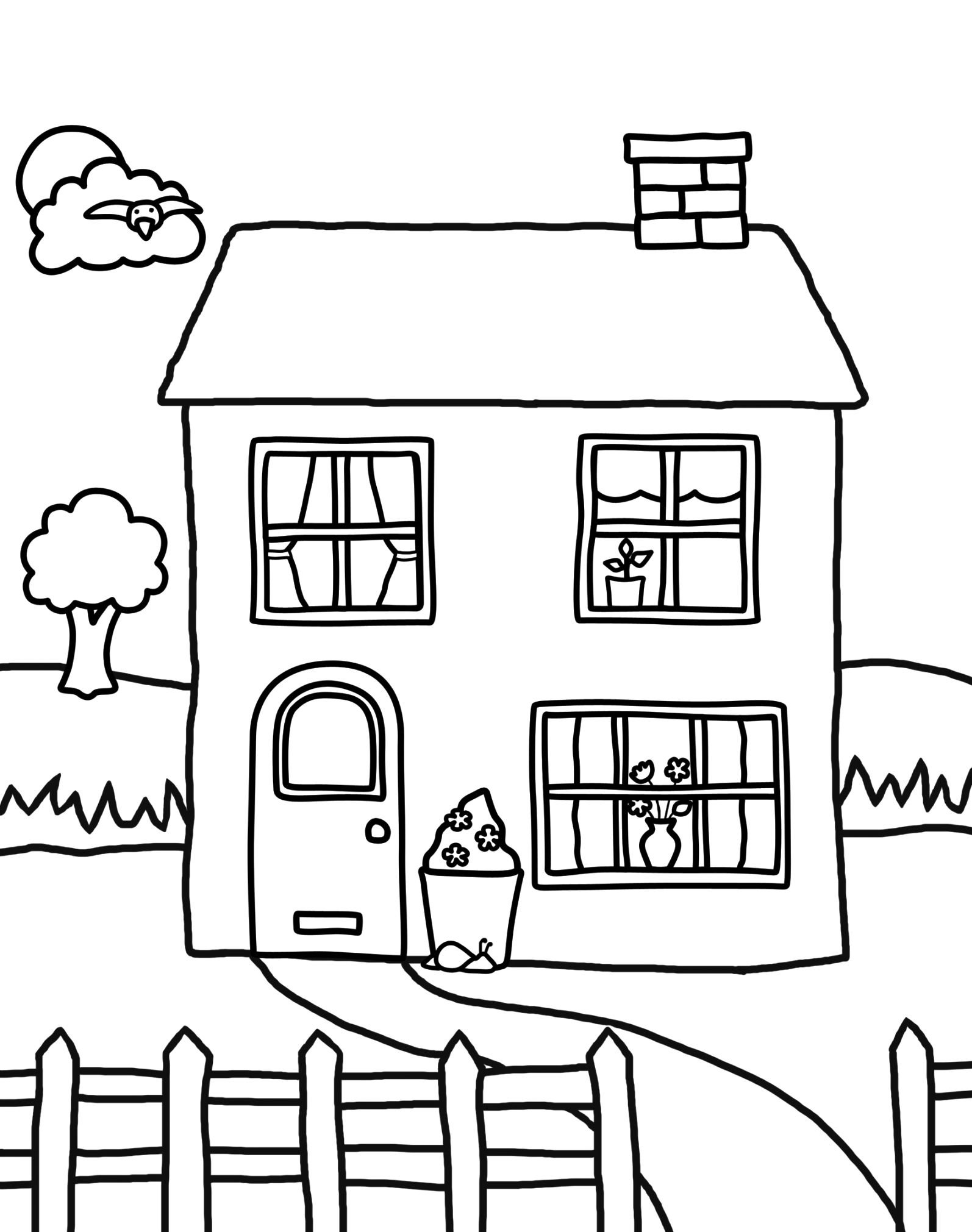 Make your house colouring pictures Coloring Pages Archives