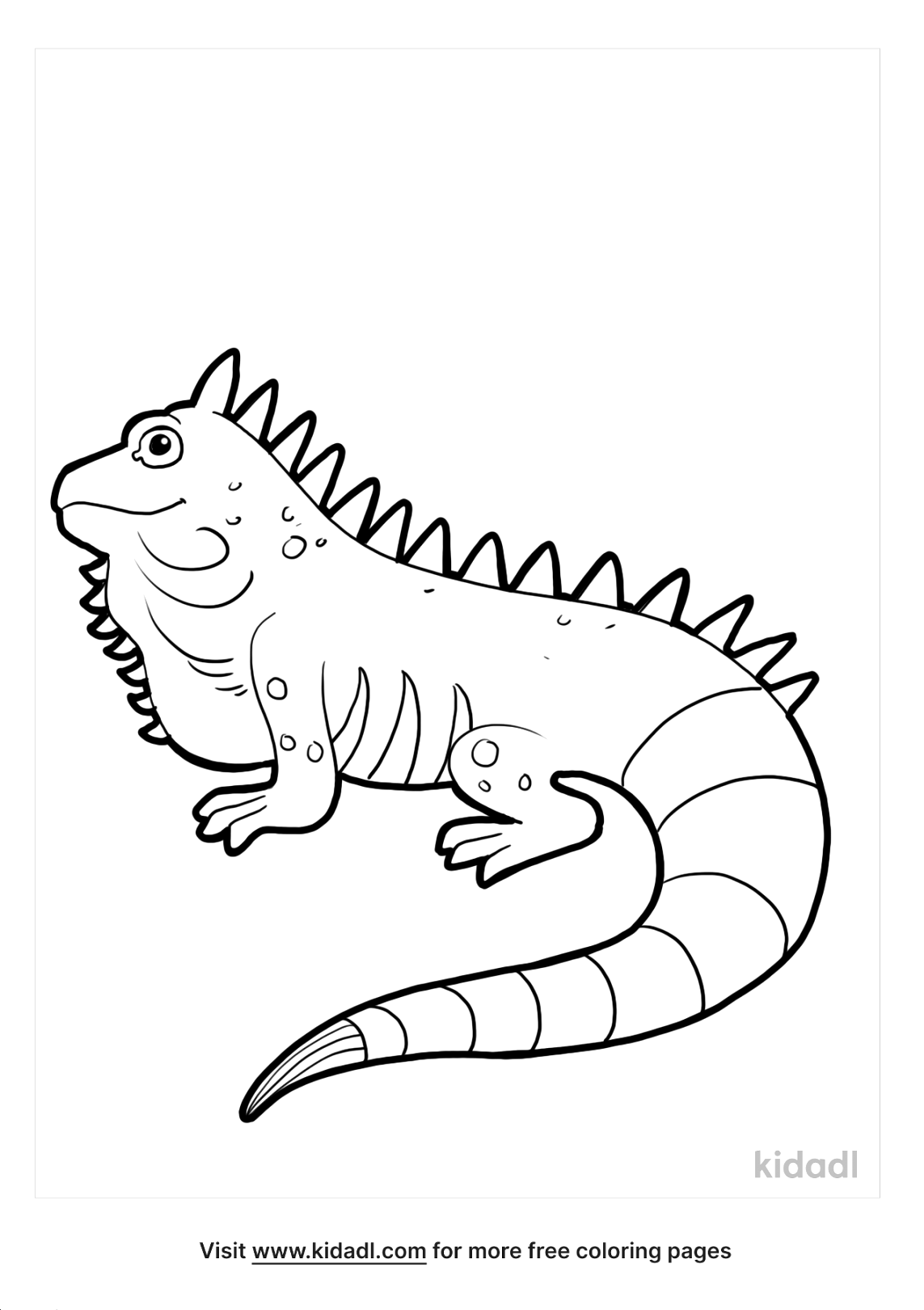 free iguana coloring page for kids