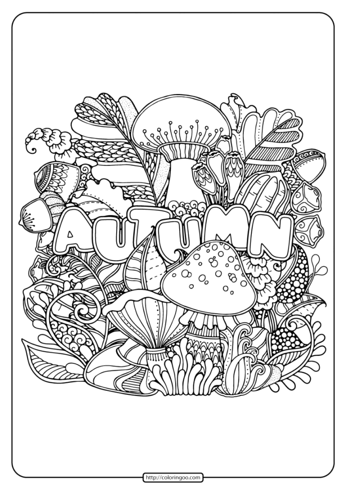 explore autumn coloring pages gallery