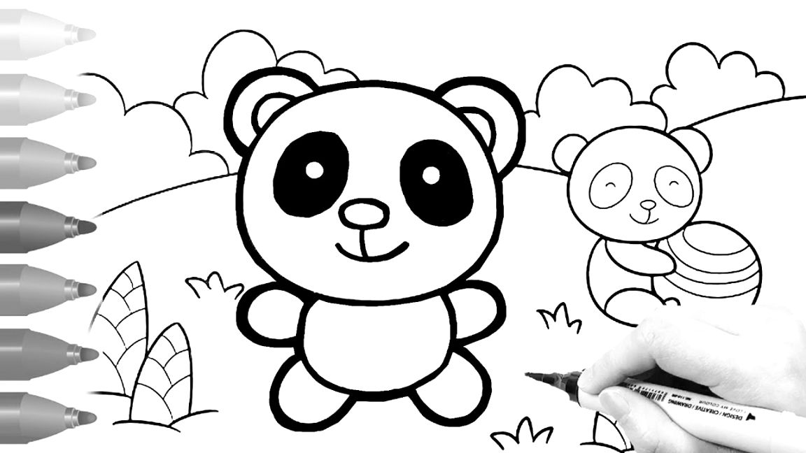 Outstanding panda coloring pages coloring pages
