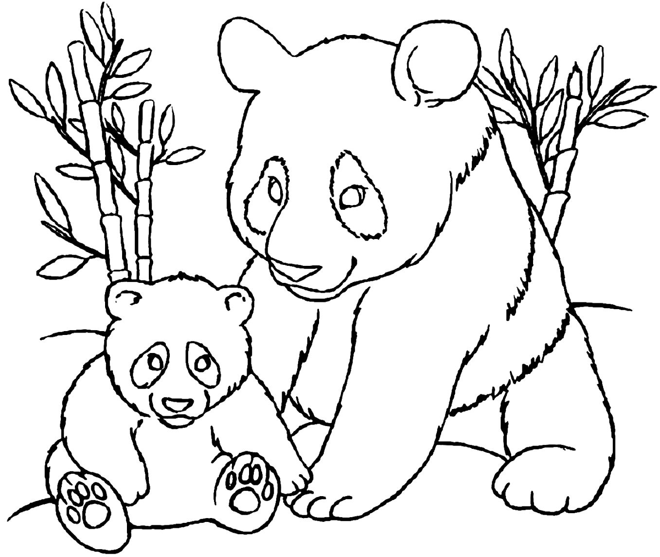 printable easy panda coloring pages to color up