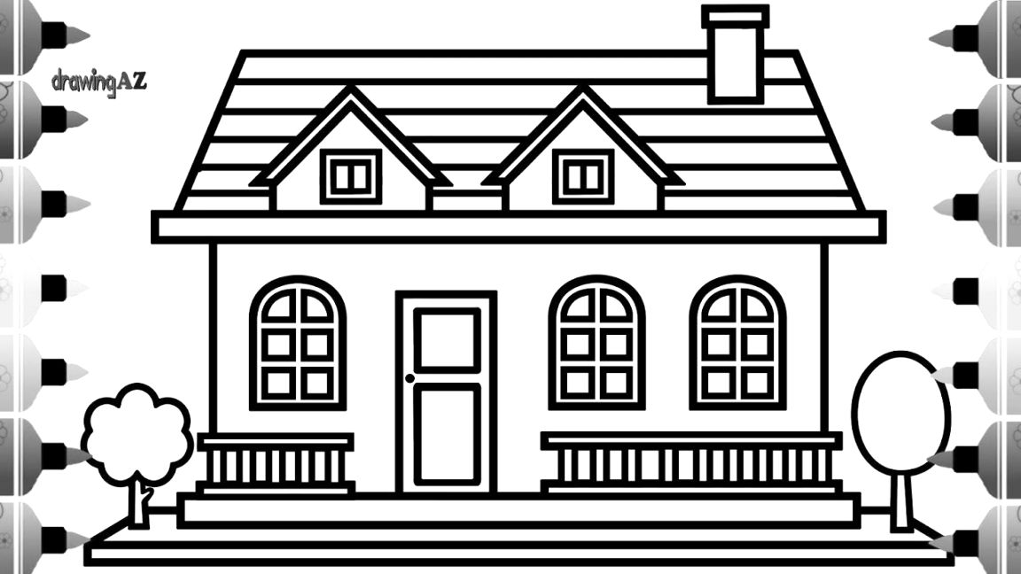 collection of house colouring pictures colour and print