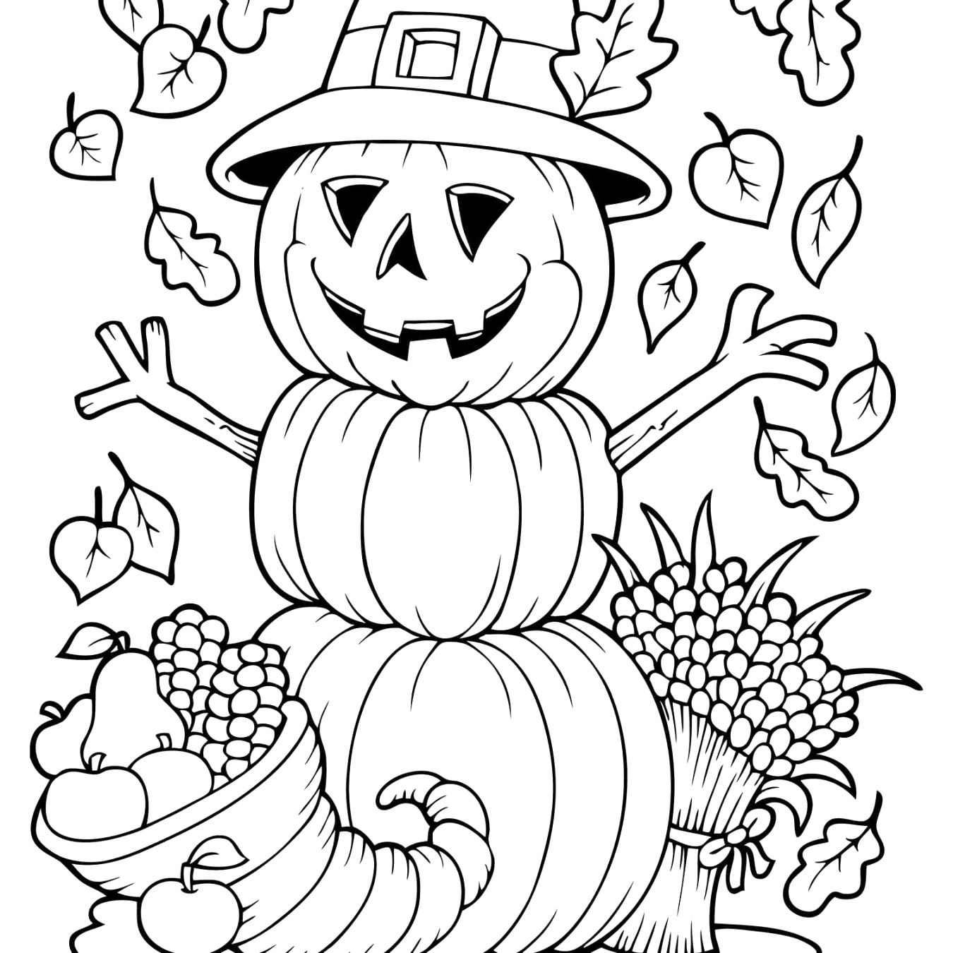 fun with autumn coloring pages to color up