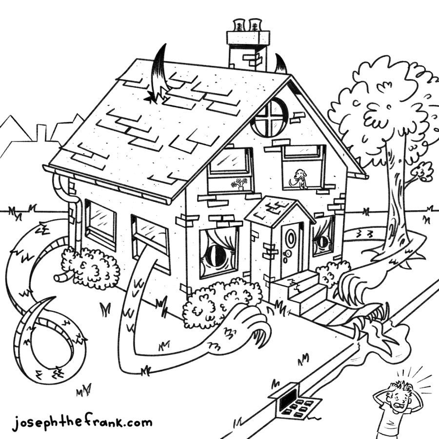 explore house colouring pictures easy to print
