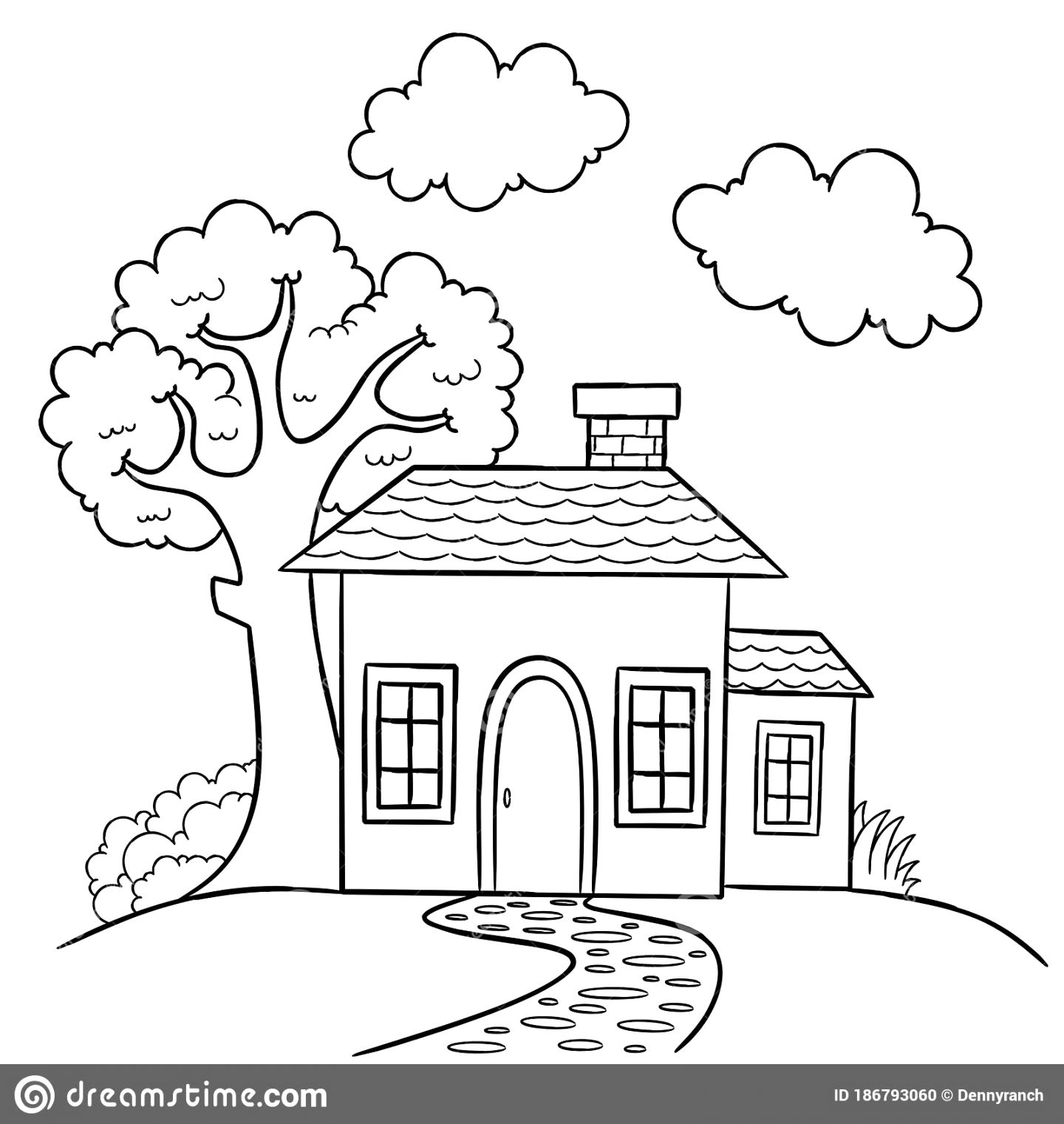 Simply download house colouring pictures Coloring Pictures For Toddlers